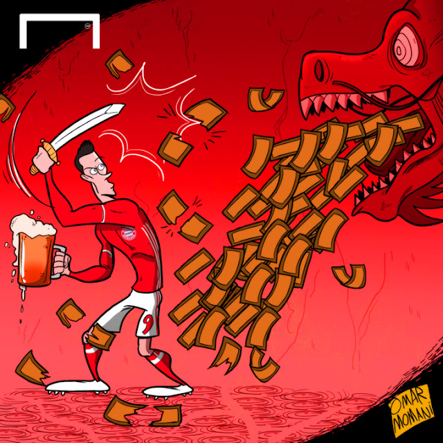 Robert Lewandowski cartoon