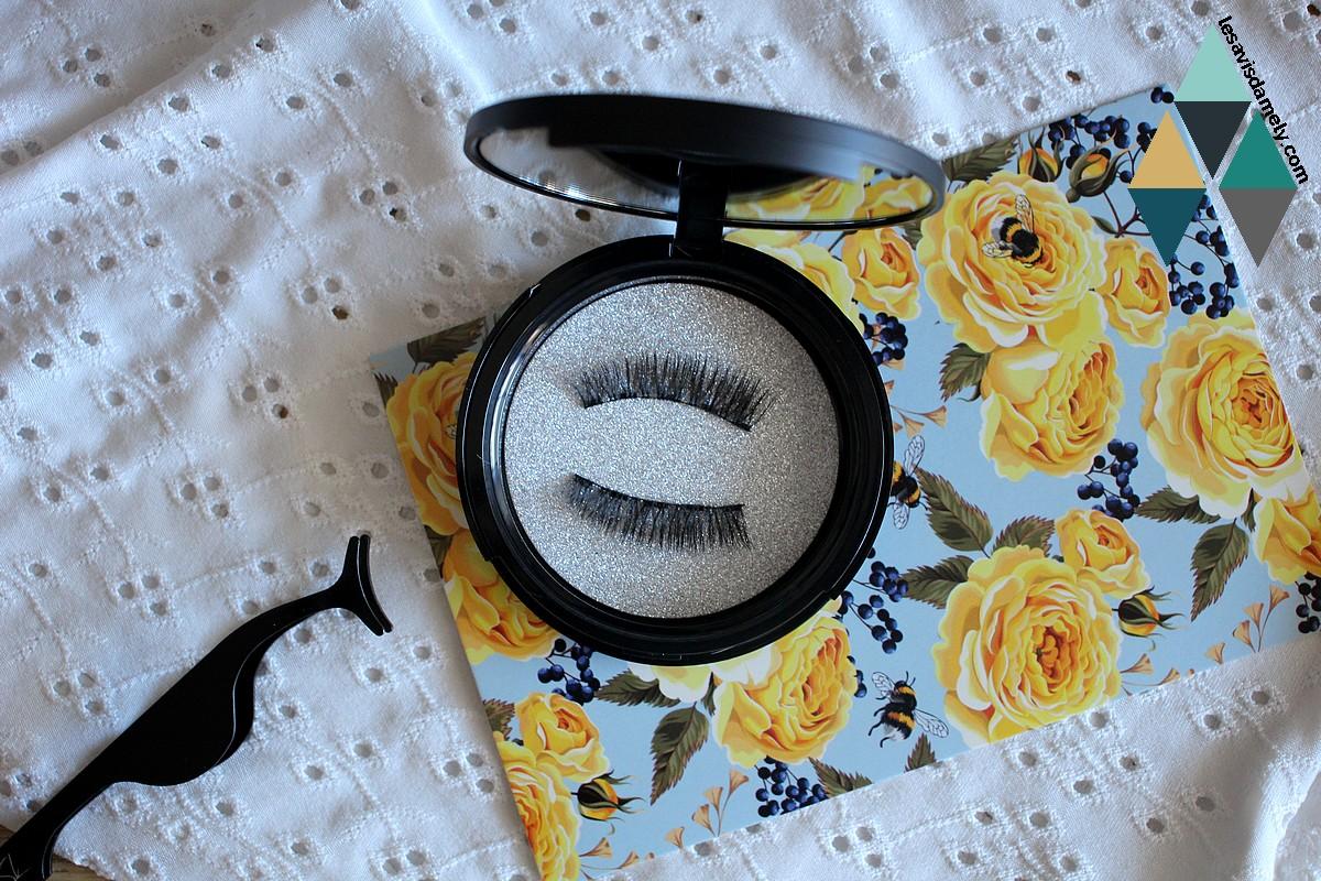 avis et test faux cils eyeliner noir intense magnetic by sl avec aimants