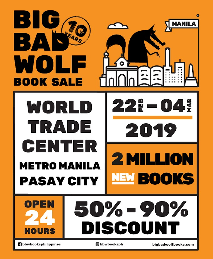 BBW: World's Biggest 50-90% Sale coming again to Manila