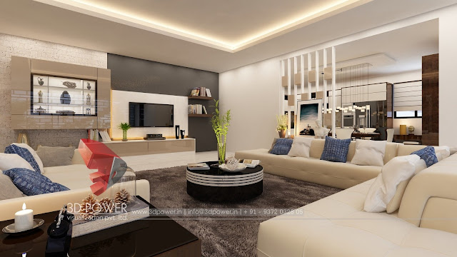 Living Room 3D Interior Services