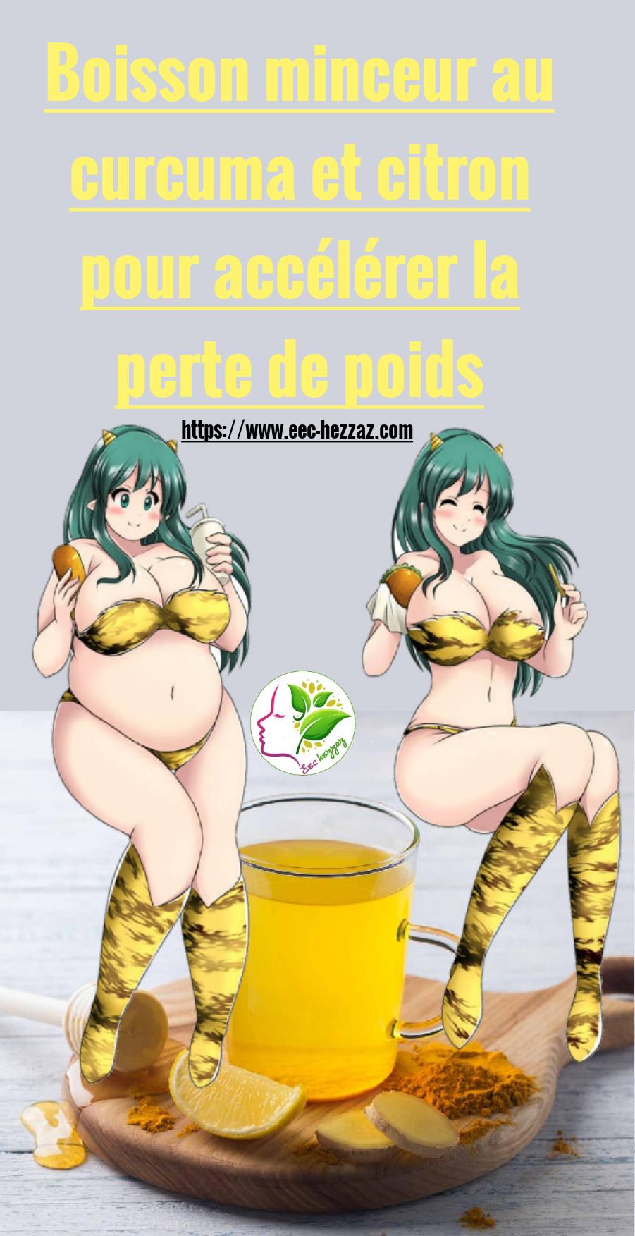 Boisson minceur au curcuma et citron pour accélérer la perte de poids