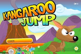 Chơi game kangaroo bật nhảy