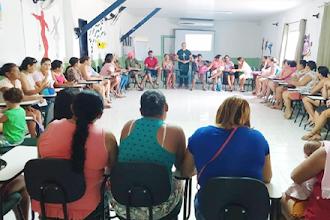 ONG Ceacri promove encontro para incentivar famílias a se envolverem com a educação dos filhos