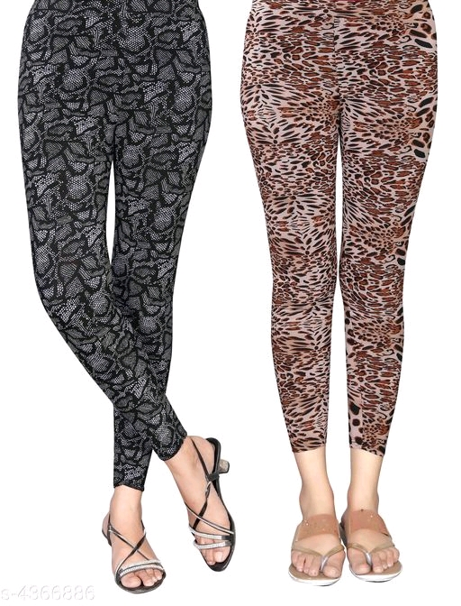 Stylish Lycra Printed Jeggings Combo