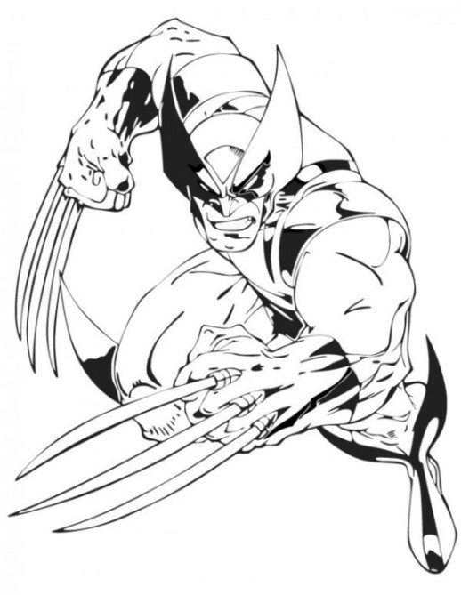 Coloring Pages 8 March For Kids Free Images Wolverine Logan