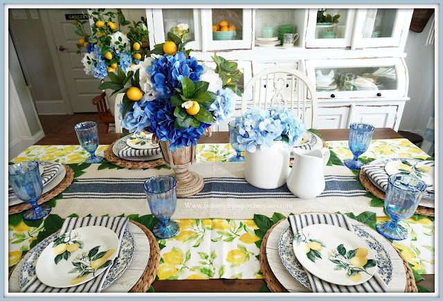 French Farmhouse-Lemon Dinnerware-Dining Room-From My Front Porch To Yours