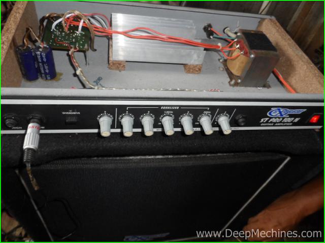 Perbaikan Kerusakan Guitar Amplifier Box Extrem ST PRO 100 N