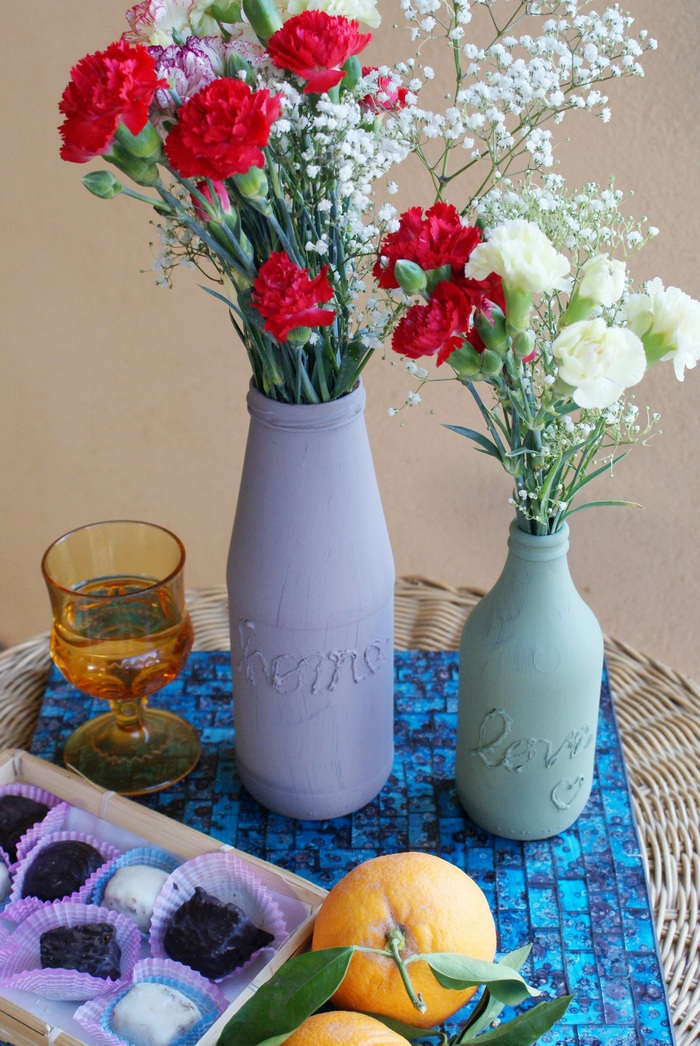 vasi vases hot glue diy