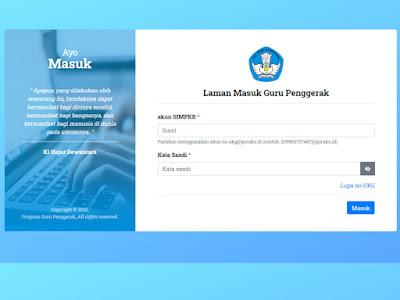 situs pendaftaran guru penggerak
