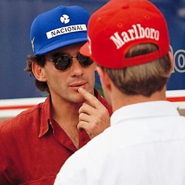 Rubens Barrichello em aniversário de Ayrton Senna