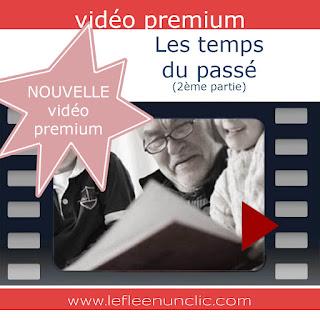 video premium, les temps du passé, le passé simple, le passé antérieur, le passé surcomposé, le FLE en un 'clic'
