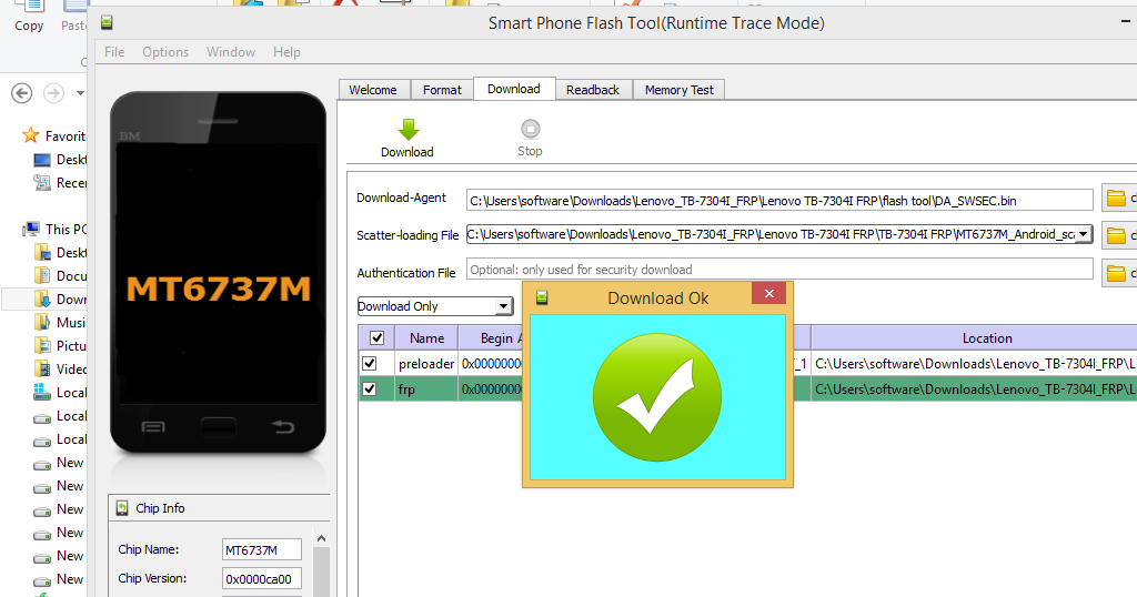 MY Updat product : Lenovo Tab 4/TB-7304I Remove google