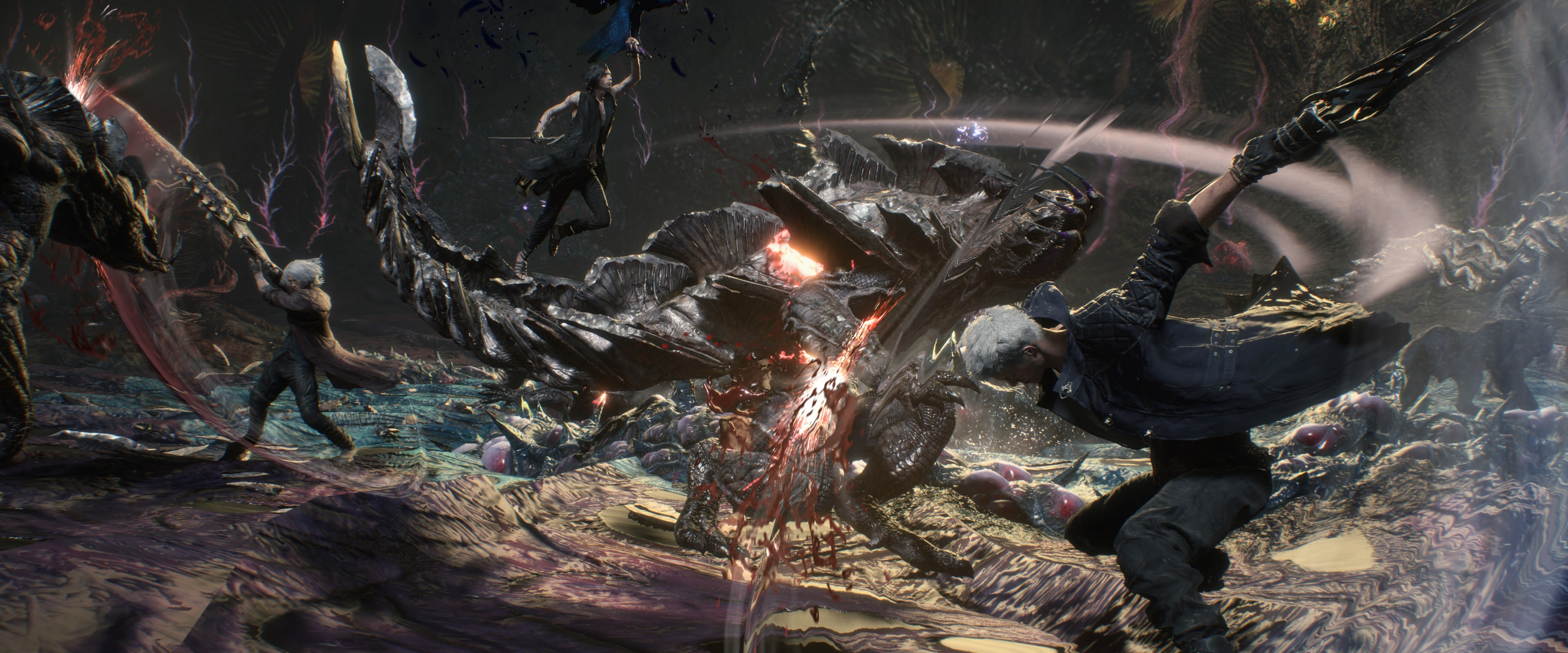 Devil May Cry 5 Nero V Dante Fighting 4k Wallpaper 25