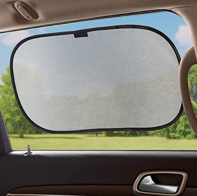 AmazonBasics Car Window Stick-On Sun Shade for More Comfortable Road Trip