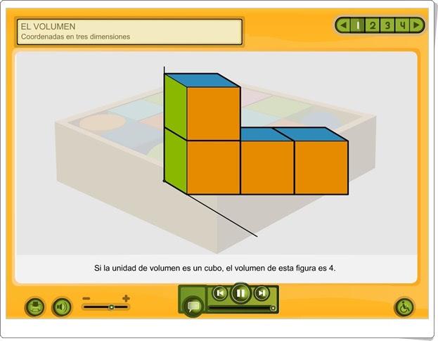 """""""Coordenadas en tres dimensiones"""" (Volumen de Educación Primaria)"""