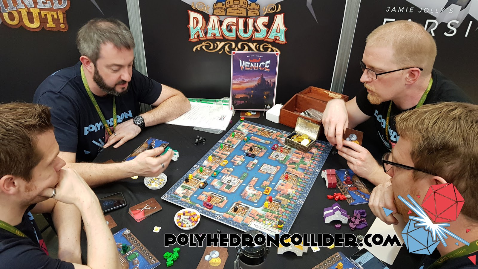 Kickstarter Highlight Venice Board Game in play 5 at UK Games Expo