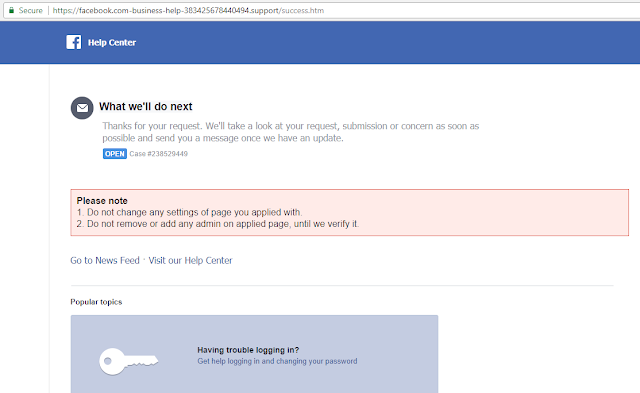 This Phishing Website Targets Facebook Page Owners and It ...