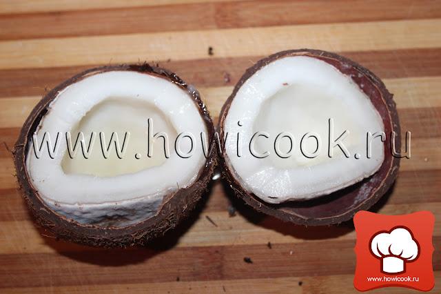 как разбить кокос, рецепт кокосового молока в домашних условиях