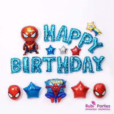 Set bóng trang trí sinh nhật cho bé trai SNBT01