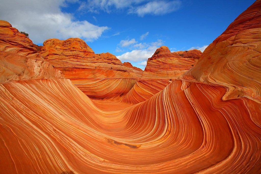 Красивый рельеф в Каньоне Антилопы в США