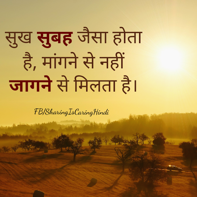Anonymous Hindi Quotes on Happiness, Demand, सुख, Morning,