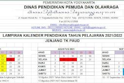 Kalender Pendidikan (Kaldik) 2021/2022 Kota Yogyakarta (PDF)