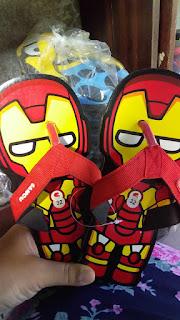 sandal anak lucu robot merah