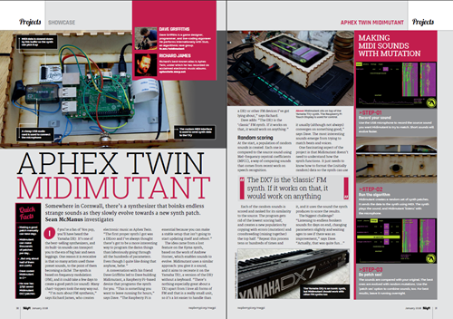 picture of the 2-page spread in The MagPi
