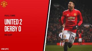 Manchester United Menang 2-0 atas Derby County 2-0