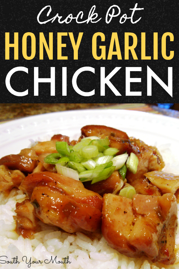 An Asian-inspired chicken dish similar to Bourbon Chicken with honey and garlic that cooks in the slow cooker!