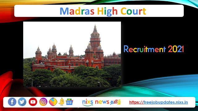 Madras High Court Recruitment 2021 367 Office Assistant Posts – Apply online