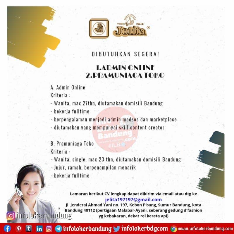 Lowongan Kerja Toko Mas Jelita Bandung Mei 2021