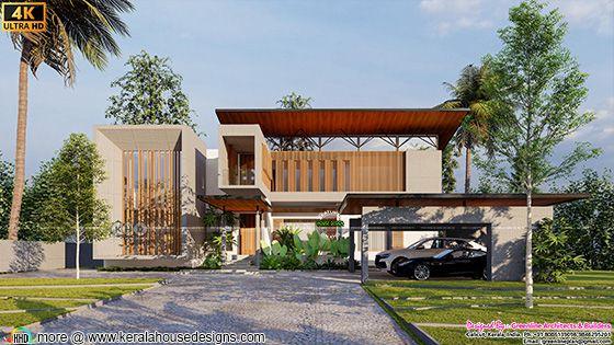 Minimalist Luxury House front elevation design type 1