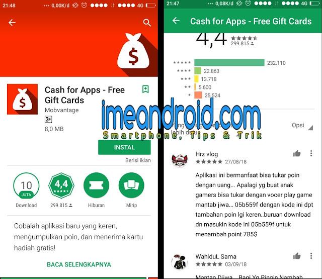 Cari uang lewat aplikasi