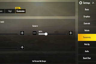 cara setting sensitivitas pubg mobile biar lancar main