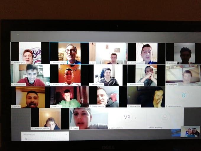 Διαδικτυακή συνάντηση για εφήβους και παίδες του Αετού Φιλύρου-Φωτορεπορτάζ