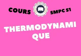 THERMODYNAMIQUE (SMPC S1 PDF)