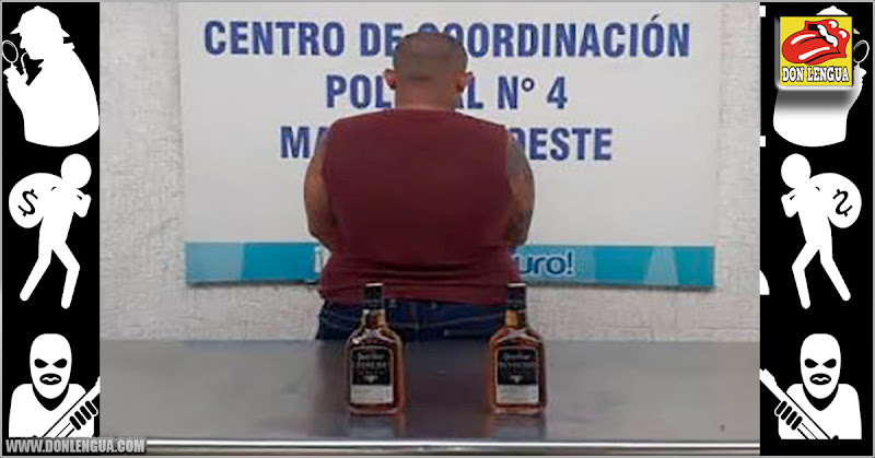 Capturado por robarse dos botellas de caña de un supermercado en el Zulia