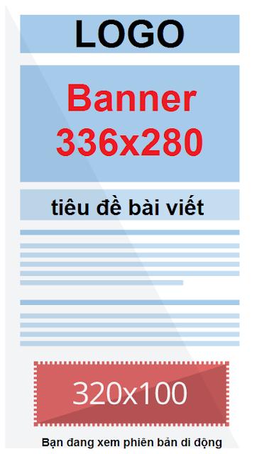 320x100 CÁC KÍCH THƯỚC ĐẶT QUẢNG CÁO BANNER & ADSENSE TRÊN CÁC TẠP CHÍ BLOG/WEBSITE