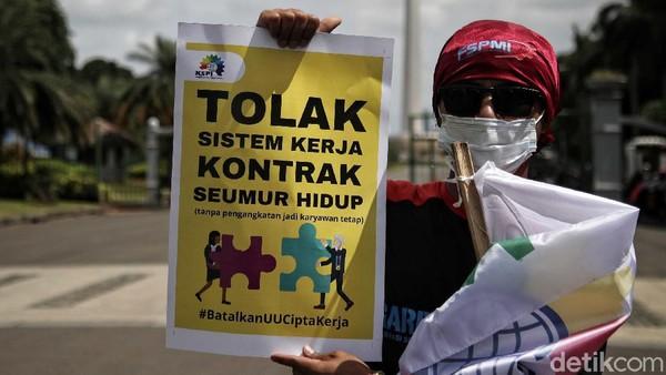 Buruh Bakal Demo di Depan MK Hari Ini