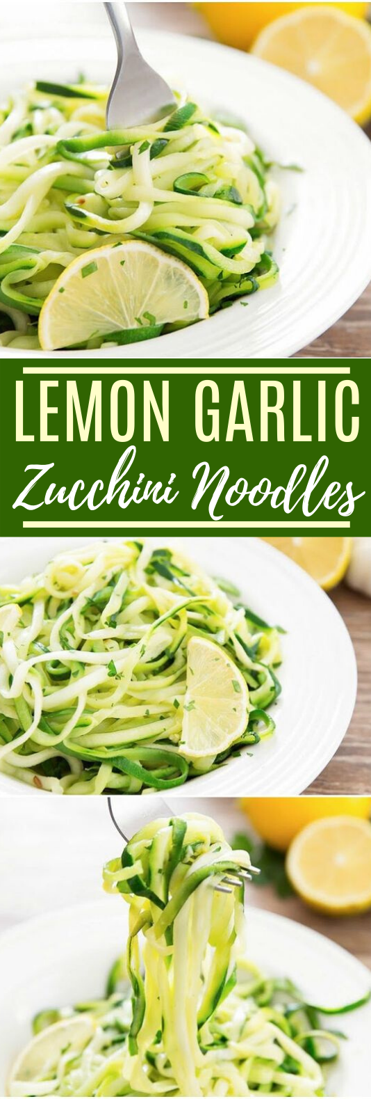 Lemon Garlic Zucchini Noodles #vegan #dinner #healthy #plantbased #vegetarian