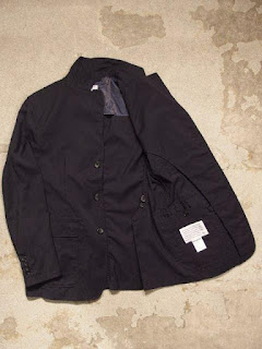 "Engineered Garmentes ""Baker Jacket in Navy Tropical Wool"""
