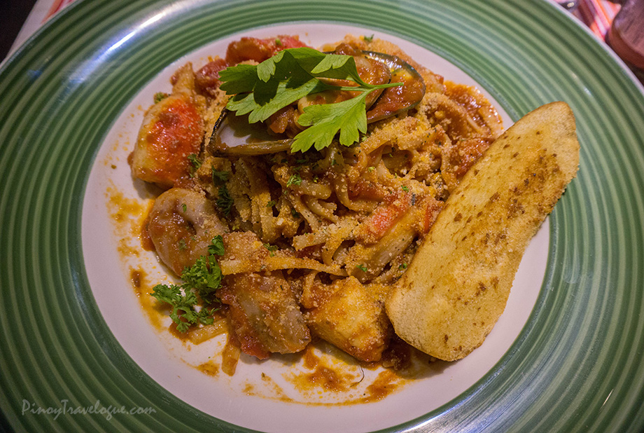 Seafood Marinara from Arabela, one of Liliw's popular diners