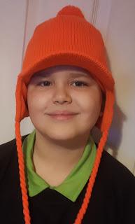 Dan Jon Jr with his new Neon Orange Hat