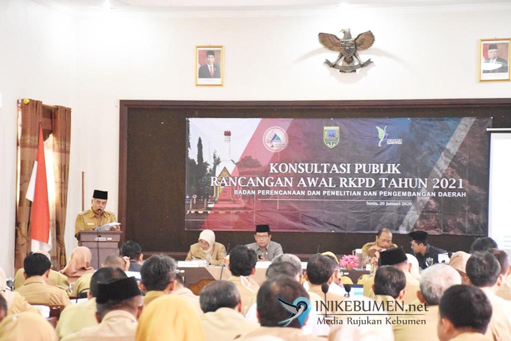 Rancangan Awal RKPD Kebumen Tahun 2021 Dikonsultasikan ke Publik