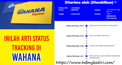 arti status pengiriman Wahana Express