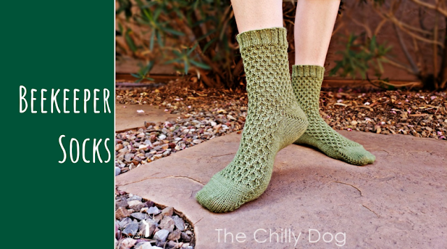 Beekeeper Socks Unisex Knitting Pattern - for men or women, multiple sizing options, featuring German short rows and a cabled stitch that is a petite cousin of the Honeycomb