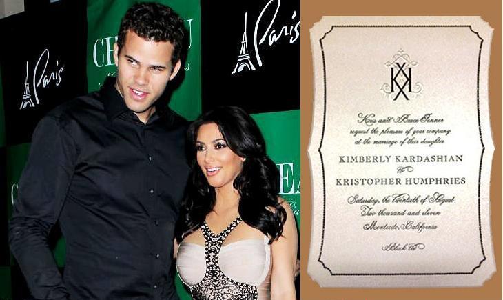 Kim Kardashian Wedding Invitation: Janustyles: Kim Kardashian Wedding Invitation