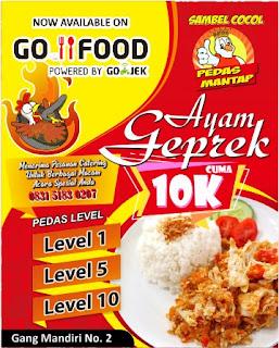 Desain Spanduk Ayam Geprek GO-FOOD GO-RESTO - Riza Corel