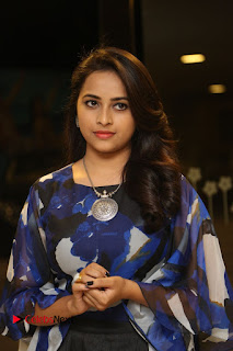 Sri Divya in Black Skirt at Okkadochadu Movie Audio Launch